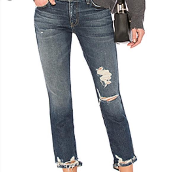 90c7320940dd45 Current/Elliott Jeans | Currentelliott Cropped Straight Destroyed ...